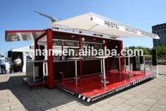 Source Hydralic opening system modular house shipping container coffee shop for mobile cafe bar design and food kiosk booth on m.alibaba.com
