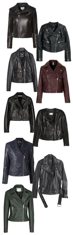 Biker Chic: Shop the 9 Coolest Moto Jackets of the Season - Shop the 9 Coolest Moto Jackets of the Season | InStyle.com From top: IRO, $1,288, intermixonline.com; H&M, $299, hm.com; Zara, $249, zara.c