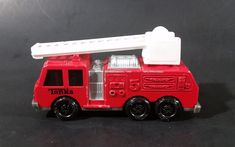 1992 Tonka Red Fire Ladder and Hook Truck DieCast Toy Vehicle - McDonald's Happy Meal https://treasurevalleyantiques.com/products/1992-tonka-red-fire-ladder-and-hook-truck-diecast-toy-vehicle-mcdonalds-happy-meal #Collectibles #1990s #Tonka #FireTruck #Firefighters #Firemen #Firefighting #LadderTruck #Trucks #Diecast #Toys #Emergency #Vehicles #McDonalds #Restaurant #HappyMeal