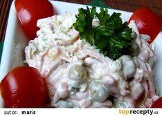 Pařížský salát recept - TopRecepty.cz Salads, Chicken, Meat, Dressings, Food, Eten, Salad, Meals, Lettuce