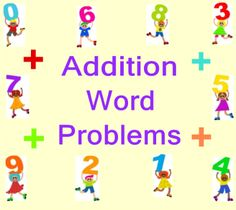 First Grade Addition Word Problems using Tools (Common Core)