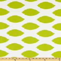 Green ikat Fabric by the Yard chartreuse on white Home Decor chipper Premier Prints - 1 yard or more - SHIPS FAST