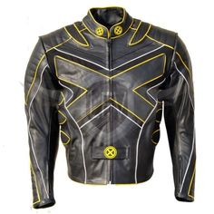 X Men3 Movie Replica Real Leather Jacket For Motorcycle Riding & Casual Use. YKK Zipper Front Zipper Fastening  CE Armour in Shoulders,Elbows & Back Premium Stitching  Quilted inner lining and One inside pocket all sizes and colors available  Request for custom order