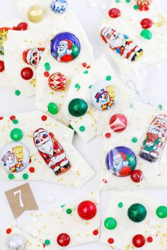 Gift This! Santa's Candy Bark | Sprinkle Bakes