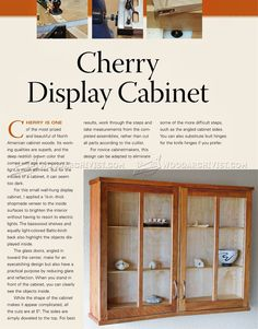 #817 Cherry Display Cabinet Plans - Furniture Plans