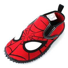 Spider Man Boys Black Slide Sandals Shoes SPS143 11 12 13 1