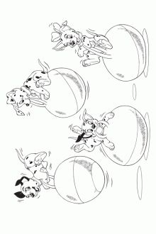 Dalmatians coloring page | Free Disney's 101 Dalmatians Printables, Downloads, Activities and More! | SKGaleana