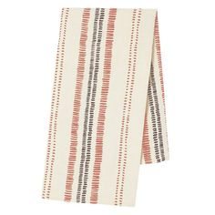 Railroad Tea Towel in Berry & Plum - From The Home Decor Discovery Community At www.DecoandBloom.com