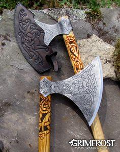 Viking Axe, Viking Warrior, Battle Axe, Ancient Vikings, Arm Armor, Fantasy Weapons, Custom Knives, Knives And Swords, Blacksmithing