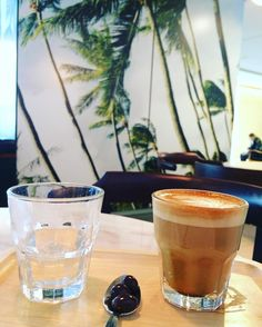 Got my java fix @honolulucoffeevancouver with swaying palm trees on my mind @coffee.bar! Loved the chocolate dipped coffee beans included w my Gibraltar.  #coffeetime #coffee #java #espresso #gibraltar #hawaii #palmtrees #escape #travel #honolulucoffee #honolulu #vancouver