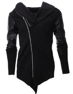 FLATSEVEN Mens Slim Unbalanced Zip Up Jacket (JKU) Black, Boys L FLATSEVEN http://www.amazon.com/dp/B00EL5QM9I/ref=cm_sw_r_pi_dp_6Hjwub0P61QHC
