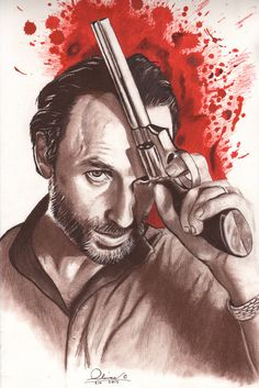 hand drawn...Rick Grimes artist: essenceofus #TheWalkingDead #RickGrimes #Art
