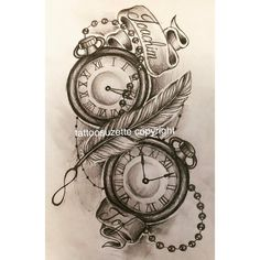 Pocket watch feather tattoo design by Tattoosuzette on DeviantArt - Pocketwatch v . - Pocket watch feather tattoo design by tattoosuzette on deviantart – pocketwatch veren tattoo ontw - Kid Tattoos For Moms, Daddy Tattoos, Tattoo For Son, Mother Tattoos, Tattoos For Children, Mother And Baby Tattoo, Clock Tattoo Design, Feather Tattoo Design, Celtic Tattoo Symbols