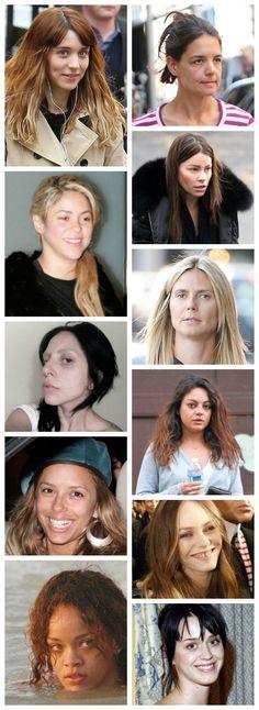 Wabi-sabi Women! Stars without makeup!