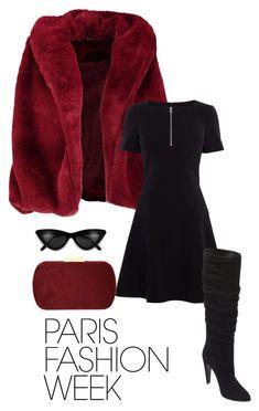 """Paris fashion week street style"" by hannahfoster-i ❤ liked on Polyvore featuring Boohoo, Karen Millen, Natasha, Steve Madden, parisfashionweek and Packandgo"