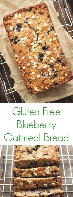 This moist and chewy gluten free blueberry oatmeal bread is lightly sweetened and packed with whole grains. A huge family favorite!