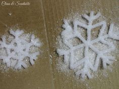 Frosted pipe cleaner snowflake ornaments. using epsom salt
