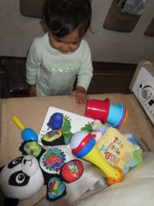 Packing a Travel Fun Bag for Toddlers One to Two Years Old