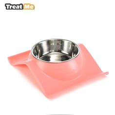 Stainless Steel Dog Bowl Animal Food Bowls Puppy Pet dog&cat Bowl accesorios para perros  dieren benodigheden hond 	Main Features: 	Double bowls for food and drink 	Stainless Steel bowls, removable to wash 	assembled into finished size:  25*19.5*6.5cm 	stainless steel bowl inner diam ...
