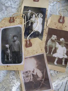 Handmade Gift Tags Vintage Tags Vintage Dog Tags by QueenBe, $6.00