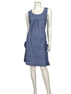 Leinenkleid mit Spitze, blau - Online Shop meinkleidchen.de