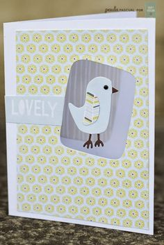 Create cute cards with the Hello Sunshine collection, featuring this adorable bird on a Thinlits™ die.