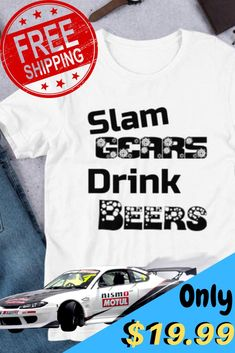 Round Neck T-Shirt,Red Dragster Automobile Fashion Personality Customization