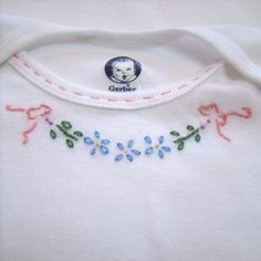 Simple little hand embroidery on Precious Baby's everyday items to make them extra special :D
