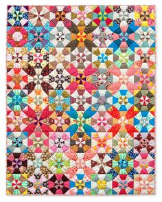"Here's my version of Sujata Shah's wonderful pattern,   ""Organized Chaos.""     It's a joy to make, and a great way to use scraps.        ..."