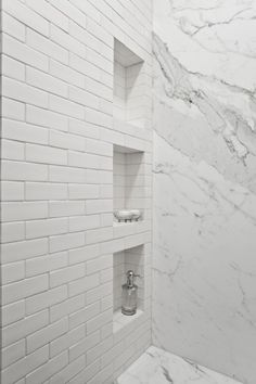 White Bathroom Tile, Marble I Master Bathroom Inspiration