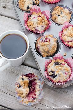 Fruit Muffins with Streusel Topping - La Cuisine d'Helene