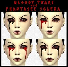 Bloody Tears at DecayClown's Sims • Sims 4 Updates