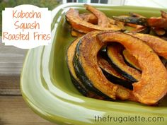 Kabocha Squash Roasted Fries Recipe #sidedish #thanksgiving