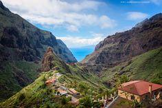 Tenerife Treasure by Allard Schager .- Beautiful village of Masca, a real treasure in the Macizo de Teno mountains. Canary Islands.