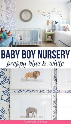 The cutest baby boy room decor! Seriously love all this adorable nursery decor boy accent walls! Such a cute white and navy theme perfect baby room boy decor ideas! Baby Boy Nursery Decor, Modern Nursery Decor, Boys Room Decor, Baby Boy Rooms, Nursery Neutral, Baby Boy Nurseries, Baby Decor, Baby Room, Nursery Ideas