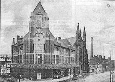 1907 Bradshawgate, Breightmet Street. The King's Hall, an absolutely massive place, a Methodist mission and hall opened after the Victoria Hall had proved to be a success. It opened in February 1907 having been built alongside Bradshawgate Wesley Chapel.  It closed 22 Jun 1958 but was not demolished until 1964. Victoria Hall, Wesley Chapel, Small Towns, North West, Jun, February, England, Success, Street
