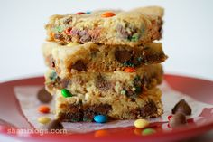Chocolate Chip Cake Mix Cookie Bars | www.shariblogs.com