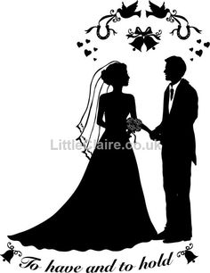 Silhouette Wedding Couple clear stamp