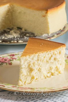 Tall And Creamy New York Cheesecake Recipe - (artandthekitchen)