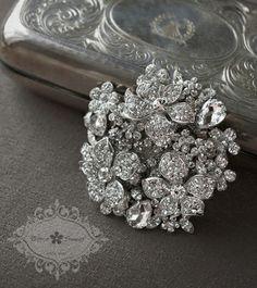 Bitter Sweet Bridal Collection. Brooch. #bridal #jewellery #wedding #elegant #floral