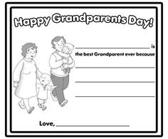 FREE Grandparents Day Color Sheets