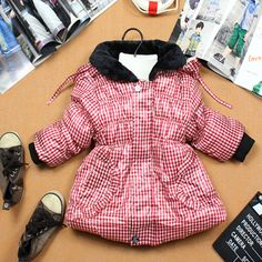 Aliexpress.com : Buy 2013 children's winter jacket winter children outerwear winter jackets for girls Plaid fur collar SCG 3068 Free Shipping from Reliable girls winter coat suppliers on Sunlun Wholesale And Retail Center $15.02