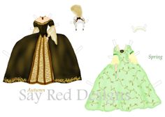 Original Marie Antoinette Paper Doll - Four Seasons Fashions- Digital Download -Printable