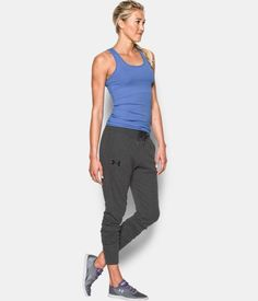 Women's UA Favorite French Terry Jogger , Carbon Heather, Front