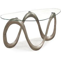 @Overstock.com - Spano Shaped Glass Sofa Table - Complete your contemporary decor setting with this Spano geometric shaped sofa table with metal core base in brushed pewter for premium-grade architectural support. The graceful tempered glass with fluid curves completes this enchanting, structured piece.  http://www.overstock.com/Home-Garden/Spano-Shaped-Glass-Sofa-Table/8033693/product.html?CID=214117 $381.99