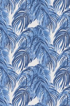 Lacefield Villa Wedgewood blue and white palm textile pattern #tropicalvibes