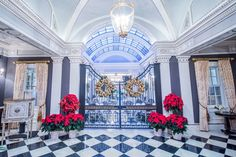 Holiday Decor in the lobby at The Jefferson Hotel, Washington, DC