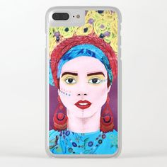 Woman with flowers Clear iPhone Case by bublinko Hippie Style, Iphone Cases, Shop, Flowers, Women, Fashion, Moda, Women's, Fashion Styles