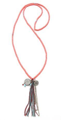 Chan luu Tassel Charm Necklace $32.00 thestylecure.com
