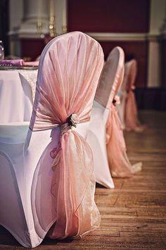 Home Textile Candid Champagne Wedding Chair Sash Wedding Chair Ribbons Organza Elastic Chair Sashes Sashes